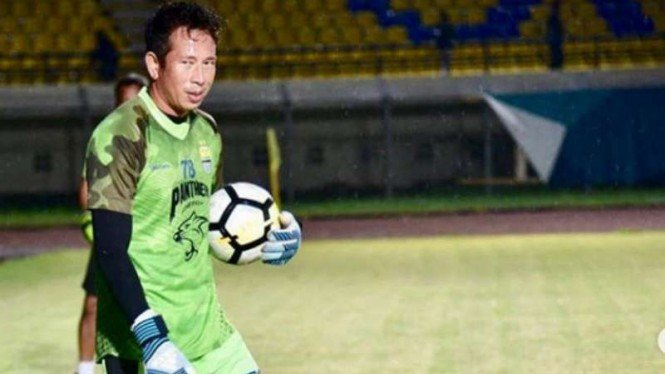 Kiper Persib Bandung, I Made Wirawan.