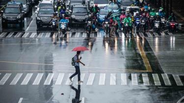 Ilustrasi hujan guyur Jakarta.