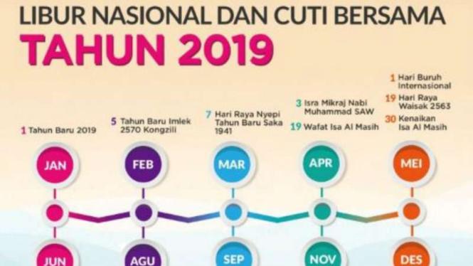 Catat, Jadwal Libur Nasional dan Cuti Bersama 2019 - VIVA