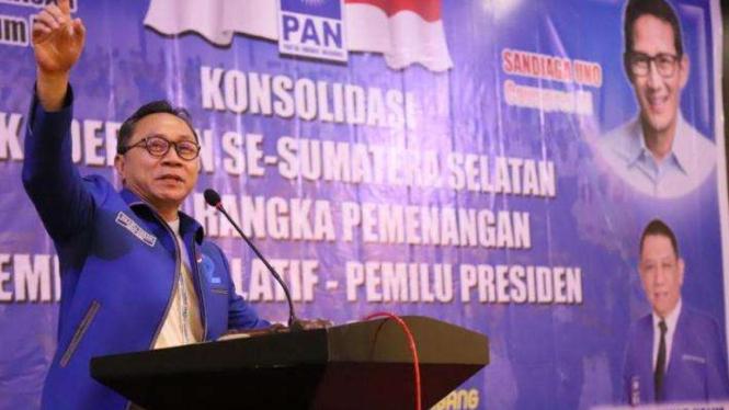 Ketua Umum PAN, Zulkifli Hasan.