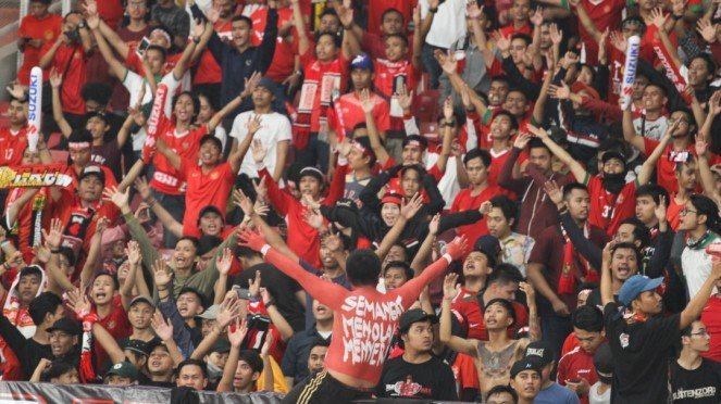 Suporter Timnas Indonesia.