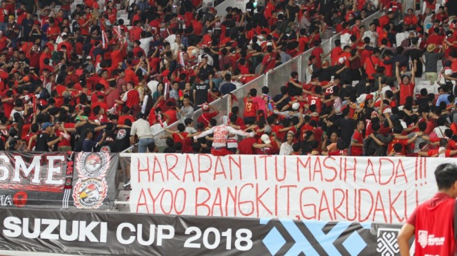 Suporter Timnas Indonesia di Piala AFF 2018 Lawan Timor Leste