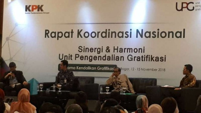 Rapat koordinasi nasional, sinergi dan harmoni Unit Pengendalian Gratifikasi.
