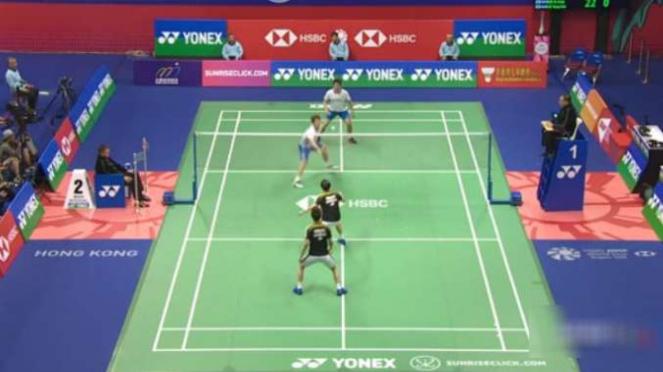 Kevin/Marcus melawan Kim/Lee di perempatfinal Hong Kong Terbuka.