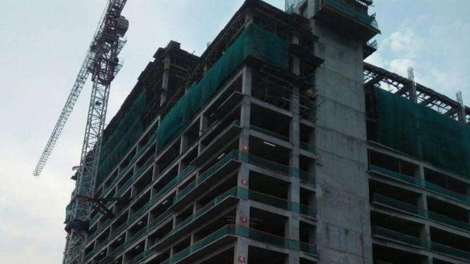 Ilustrasi pembangunan apartemen.