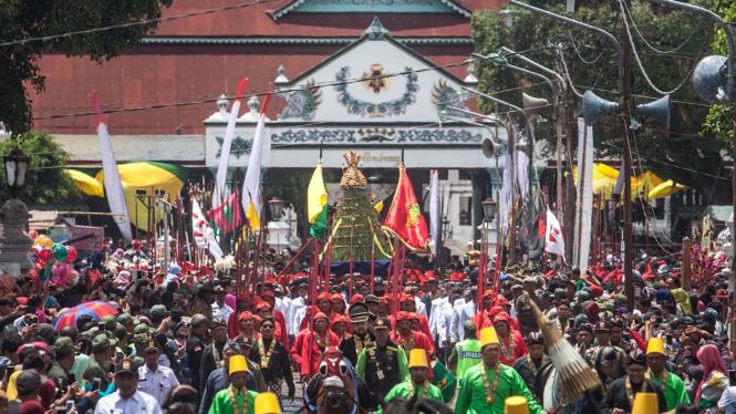 Keraton Yogyakarta saat acara Grebek Maulud beberapa waktu lalu.