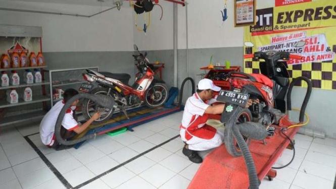 Bengkel Resmi Motor Honda Berkurang Di Jakarta