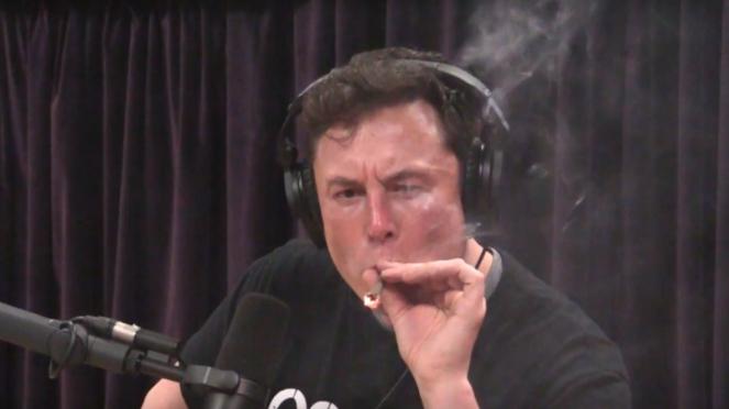 CEO SpaceX, Elon Musk mengisap ganja