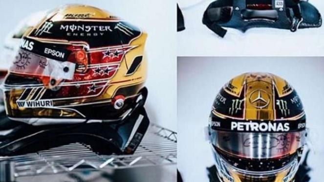 Helm khusus Lewis Hamilton.