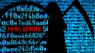 Ilustrasi malware.