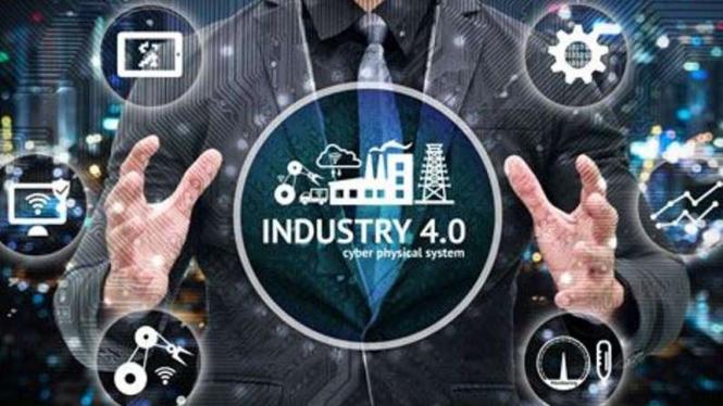 Ilustrasi revolusi industri 4.0.
