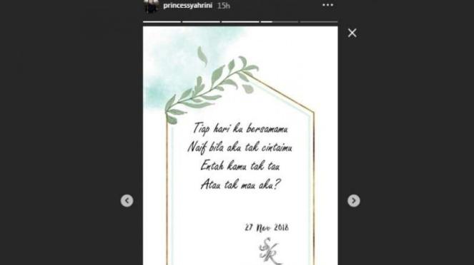 Kata romantis Syahrini