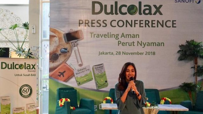 Adisti Nirmala, Marketing Director Sanofi Indonesia di konferensi pers Dulcolax.