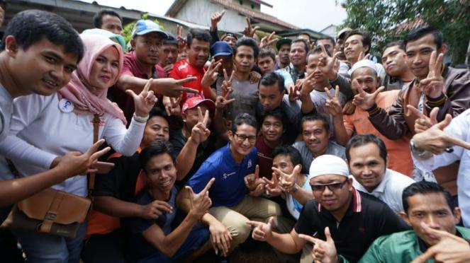 Cawapres nomor urut 02 Sandiaga Uno kampanye di Bogor, Jabar