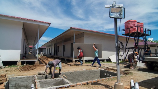 Pembangunan Hunian Sementara di Palu