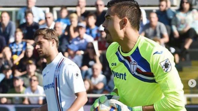 Kiper Sampdoria, Emil Audero Mulyadi.