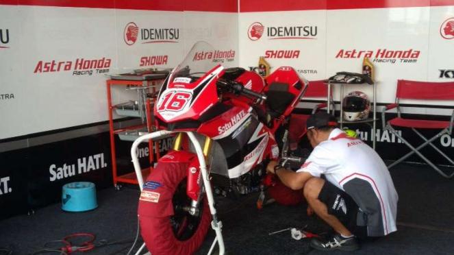 Suasana paddock Indonesia di Asia Road Racing Championship (ARRC)