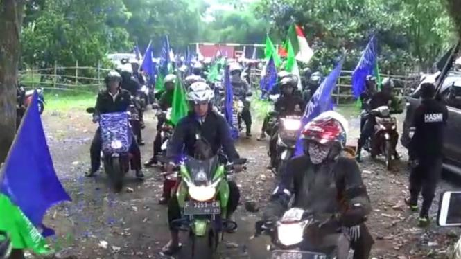 Ratusan pengendara motor dari Bogor menuju Jakarta ingin hadiri reuni 212