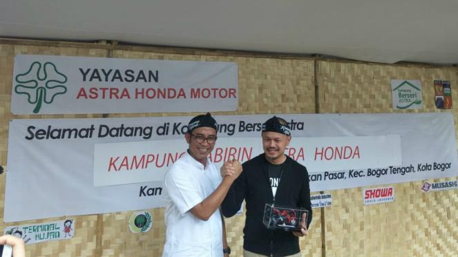 Peresmian Kampung Labirin Astra di Bogor