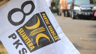 Bendera Partai Keadilan Sejahtera (PKS).