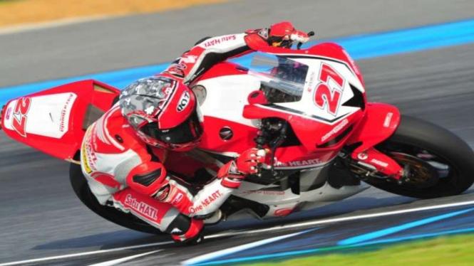 Pembalap Astra Honda Racing Team (AHRT), Andi Farid Izdihar (Andi Gilang).