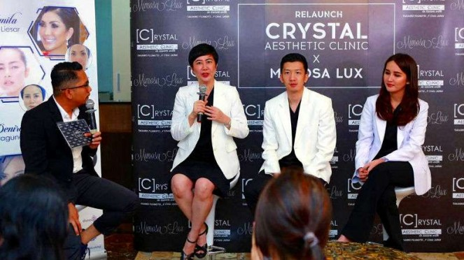 Acara Relaunch Crystal Aesthetics Clinic x Mimosa Lux