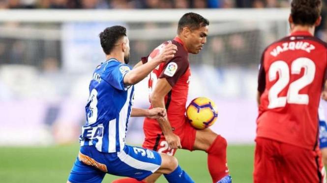 Pertandingan LaLiga antara Alaves melawan Sevilla