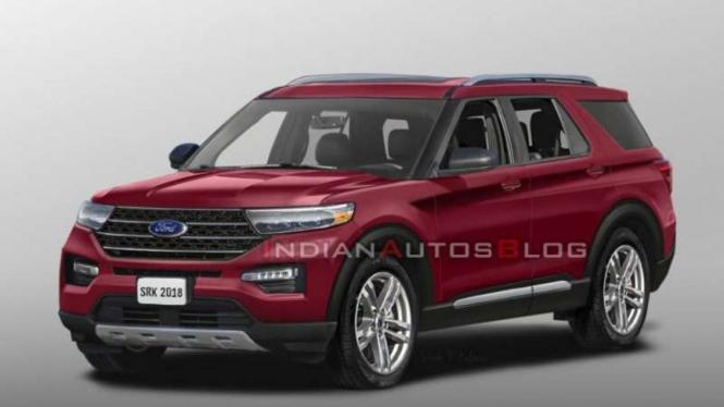 Rendering Ford Explorer 2020.