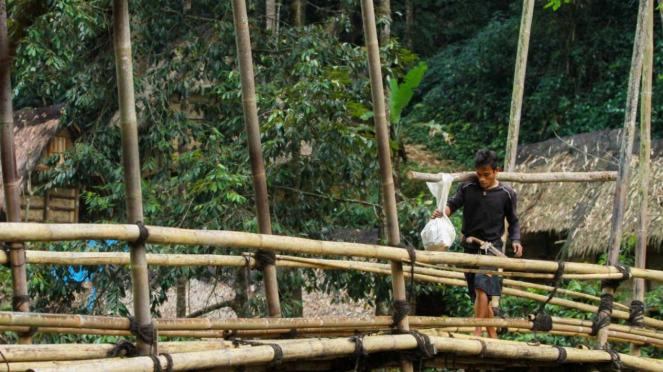 Suasana di desa adat Baduy.