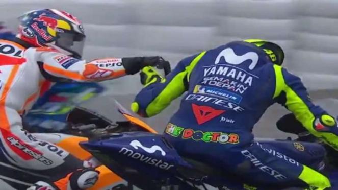 Dani Pedrosa dan Valentino Rossi.