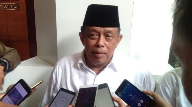 Ketua Badan Pemenangan Nasional Prabowo-Sandiaga, Djoko Santoso, usai memberikan pengarahan di hadapan ratusan relawan di Hotel Santika Semarang, Jawa Tengah, Selasa, 4 Desember 2018.
