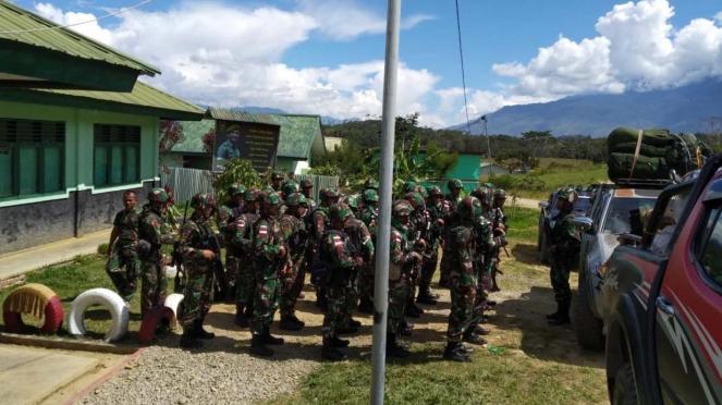Persiapan proses evakuasi pekerja Trans Papua pasca penembakan oleh KKB
