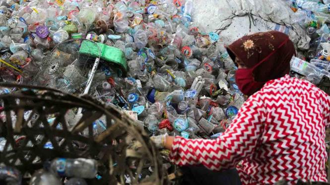 Ilustrasi sampah plastik.