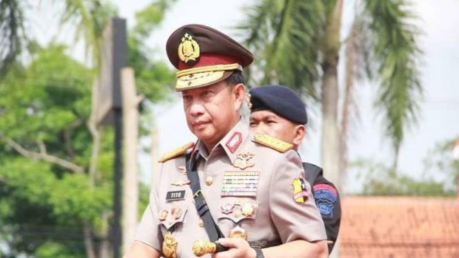 Kapolri Jenderal Tito Karnavian di Mapolda Banten