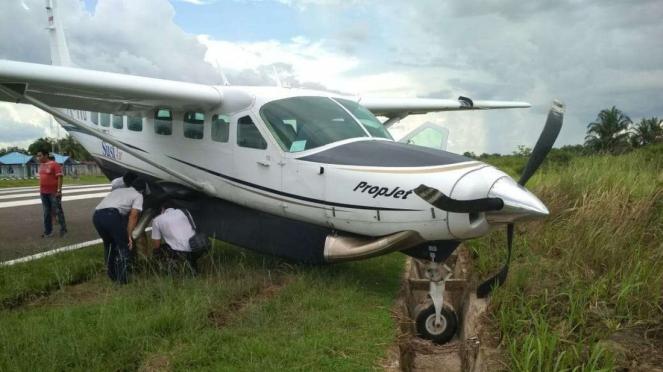 Pesawat Susi Air Tergelincir di Mappi, Papua