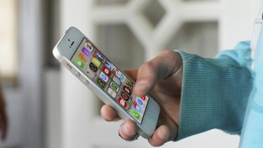 Ilustrasi aplikasi di smartphone.