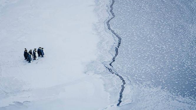 Ilustrasi pemanasan global.