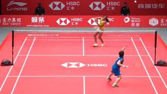 Akane Yamaguchi vs PV Sindhu di penyisihan grup A tunggal putri Final Tur BWF.