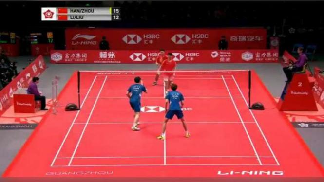 Li Junhui/Liu Yuchen vs Han Changkai/Zhou Haodong di final BWF.