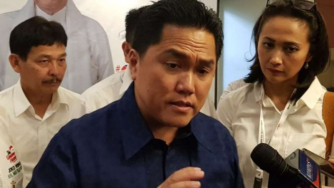 Ketua Tim Kampanye Nasional (TKN) Joko Widodo-Maruf Amin, Erick Thohir
