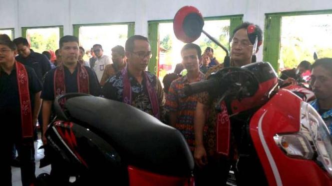 Astra Honda Motor berikan bantuan ke SMK N 3 Tanjung Selor, Kalimantan Utara