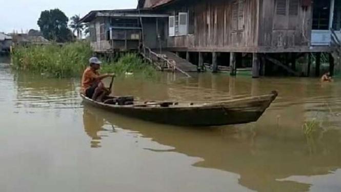 Banjir di wilayah Jambi, Sabtu, 15 Desember 2018.