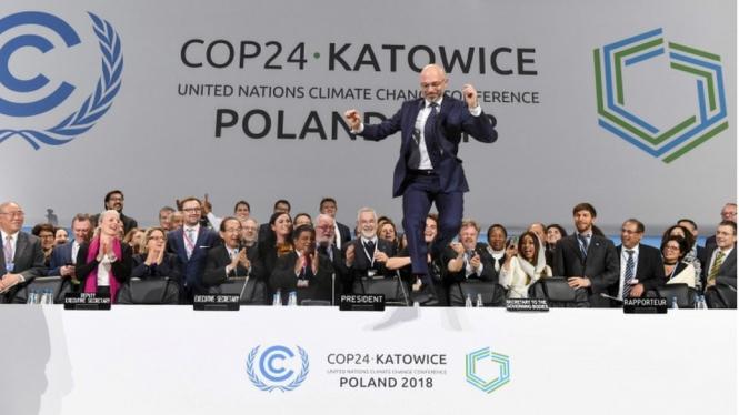 KTT Polandia Berhasil Buat Aturan Batasi Kenaikan Suhu Global