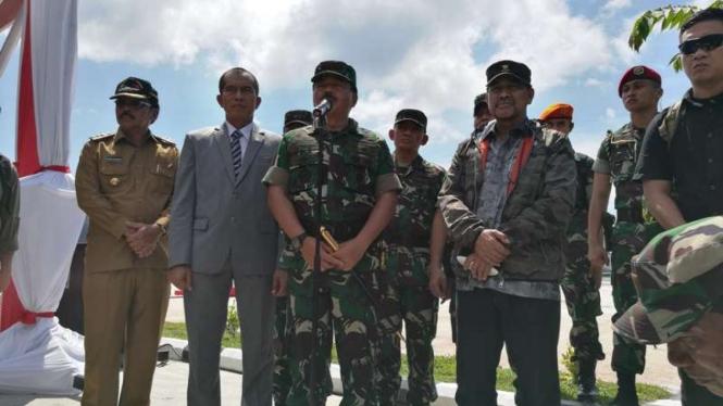 Panglima TNI, Marsekal TNI Hadi Tjahjanto di Natuna