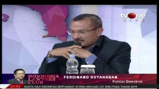 Ferdinand Hutahaean politisi Partai Demokrat