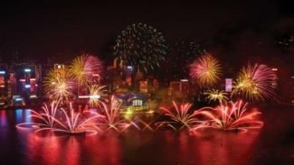Hong Kong akan mempersembahkan pertunjukan kembang api meriah