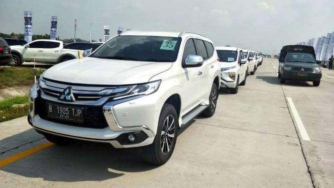 Mitsubishi Pajero Sport saat mengikuti Ekspedisi Tol Trans Jawa 2018