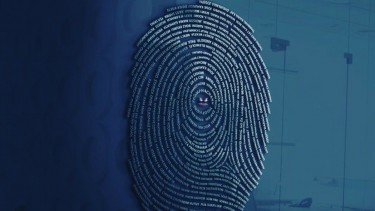 Ilustrasi sidik jari atau data pribadi.