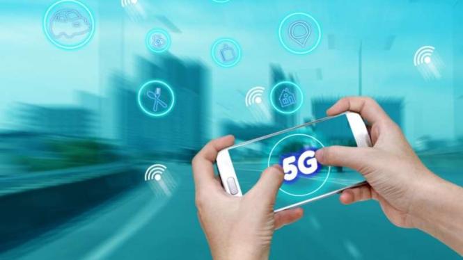 Teknologi 5G di smartphone.