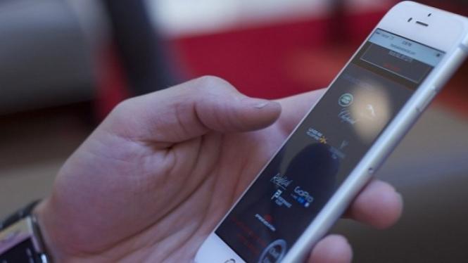 Ilustrasi aplikasi di ponsel.